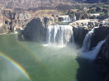 Twin Falls ft. double rainbow ;)